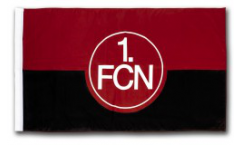 Flagge mit Hohlsaum 1. FC Nürnberg Logo - 100 x 150 cm