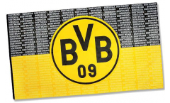 Hissflagge Borussia Dortmund Schrift - 150 x 250 cm