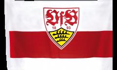 Flagge mit Hohlsaum VfB Stuttgart Wappen - 80 x 120 cm