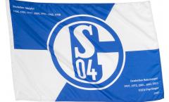 Stockflagge FC Schalke 04 Erfolge - 60 x 90 cm