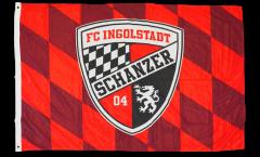 Hissflagge FC Ingolstadt 04 - 100 x 150 cm