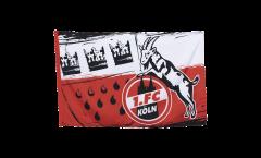 Flagge mit Hohlsaum 1. FC Köln Wappen - 80 x 120 cm
