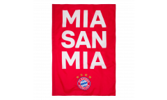 Flagge mit Hohlsaum FC Bayern München Mia San Mia - 100 x 150 cm