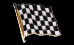 Flaggen-Pin Karo Schwarz Weiß Zielflagge - 2 x 2 cm
