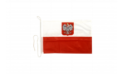 Bootsfahne Polen mit Adler - 30 x 40 cm