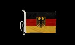 Bootsfahne Deutschland mit Adler - 30 x 40 cm