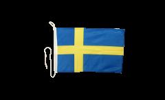 Bootsfahne Schweden - 30 x 40 cm