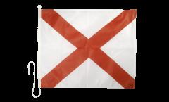 Signalflagge Viktor (V) - 75 x 90 cm