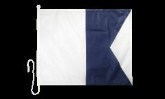 Signalflagge Alpha (A) - 75 x 90 cm