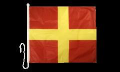 Signalflagge Romeo (R) - 75 x 90 cm