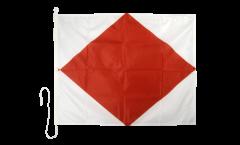 Signalflagge Foxtrot (F) - 75 x 90 cm