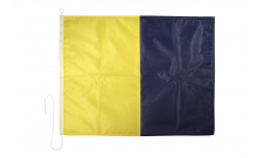 Signalflagge Kilo (K) - 75 x 90 cm