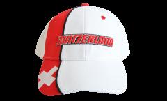Cap / Kappe Schweiz, weiß-rot, flag