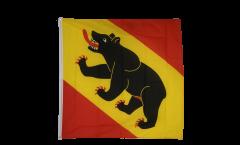 Flagge Schweiz Kanton Bern - 90 x 90 cm