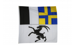 Flagge Schweiz Kanton Graubünden - 90 x 90 cm