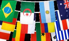 Flaggenkette WM 2014 - 15 x 22 cm