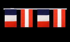 Freundschaftskette Frankreich - Österreich - 15 x 22 cm