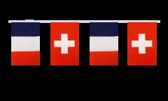 Freundschaftskette Frankreich - Schweiz - 15 x 22 cm