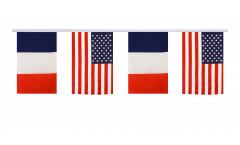 Freundschaftskette Frankreich - USA - 15 x 22 cm