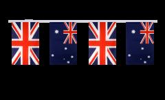 Freundschaftskette Großbritannien - Australien - 15 x 22 cm