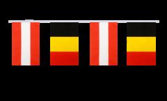 Freundschaftskette Österreich - Belgien - 15 x 22 cm