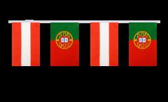 Freundschaftskette Österreich - Portugal - 15 x 22 cm