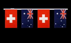 Freundschaftskette Schweiz - Australien - 15 x 22 cm