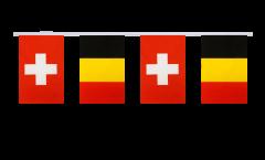 Freundschaftskette Schweiz - Belgien - 15 x 22 cm