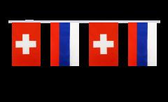 Freundschaftskette Schweiz - Russland - 15 x 22 cm