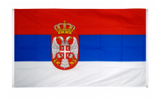 Balkonflagge Serbien mit Wappen - 90 x 150 cm