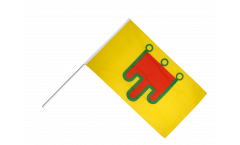 Stockflagge Frankreich Auvergne - 60 x 90 cm