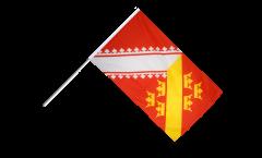 Stockflagge Frankreich Elsass - 60 x 90 cm