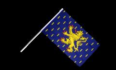Stockflagge Frankreich Franche-Comté - 60 x 90 cm