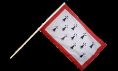 Stockflagge Frankreich Limousin - 60 x 90 cm