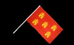 Stockflagge Frankreich Poitou Charentes - 60 x 90 cm