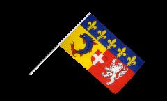 Stockflagge Frankreich Rhône-Alpes - 60 x 90 cm