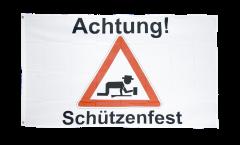 Flagge Achtung Schützenfest - 90 x 150 cm