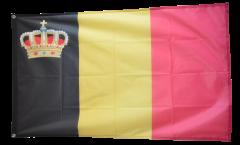Flagge Belgien mit Krone - 90 x 150 cm