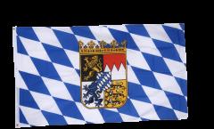 Flagge Deutschland Bayern mit Wappen