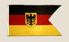 Flagge Deutschland Dienstflagge der Seestreitkräfte Deutsche Marine - 90 x 150 cm