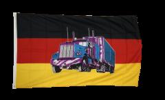 Flagge Deutschland mit LKW - 90 x 150 cm