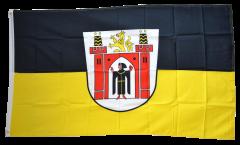 Flagge Deutschland Stadt München mit großem Wappen - 90 x 150 cm