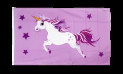 Flagge Einhorn rosa - 90 x 150 cm