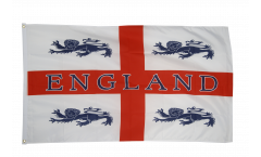 Flagge England 4 Löwen - 90 x 150 cm
