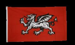 Flagge England weißer Drache