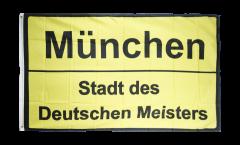 Flagge Fanflagge Bayern Stadt des Deutschen Meisters München - 90 x 150 cm