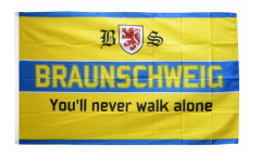 Flagge Fanflagge Braunschweig - You'll never walk alone