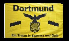 Flagge Fanflagge Dortmund - Traum in Schwarz und Gelb