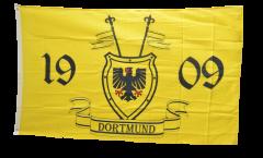 Flagge Fanflagge Dortmund 1909 mit Wappen