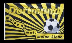 Flagge Fanflagge Dortmund Fußball - Meine Heimat meine Liebe